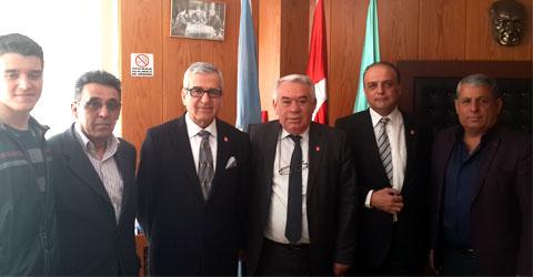 Vatan partisi'nden türk iş konfederasyonu ziyareti